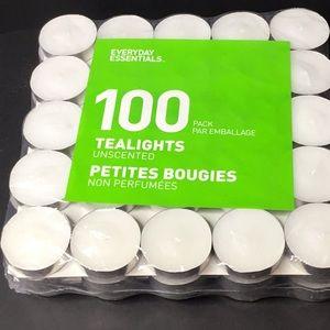 Pack of 100 Tea Lights Unscented